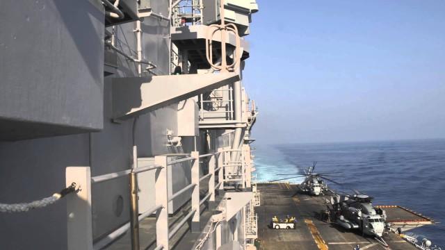 USS Peleliu Time Lapse of Flight Deck Underway