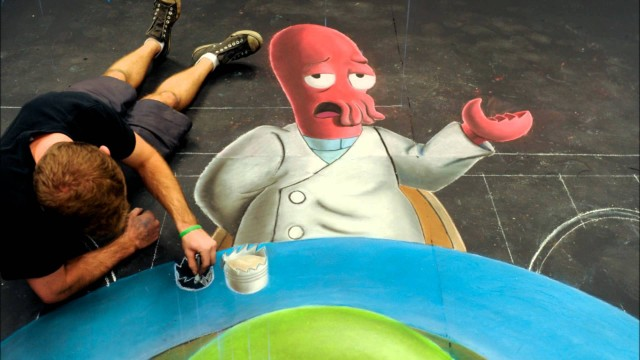 Super Mario – 3D Chalk Art